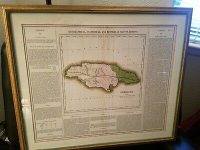 1822 Carey, Lea Geographical statistical & historical Map of Jamaica