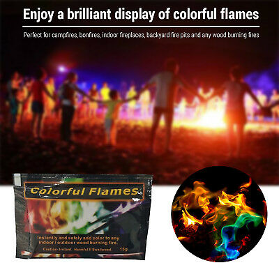 Mystical Fire 12 pkts - Magical Fire Colourful Color Changing Flames Campfire II