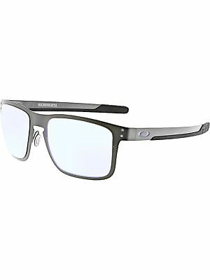 8e8254b814 Oakley Men s Polarized Holbrook Metal OO4123-07 Grey Rectangle Sunglasses