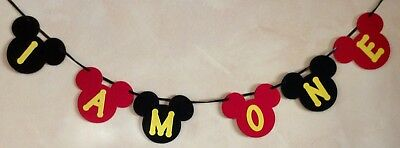 Mickey Mouse 1St Birthday Banner I Am One