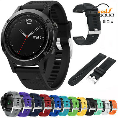 Replacement Silicagel Soft Wrist Watch Band Strap For Garmin Fenix5 GPS Watches