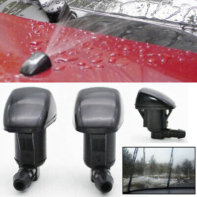 2PCS Front Windshield Wiper Water Jet Spray Nozzle Fit For Toyota Sienna Avensis