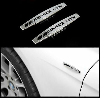 2x AMG Emblème Auto Logo autocollants voiture Badge for BENZ AMG Edition Emblem