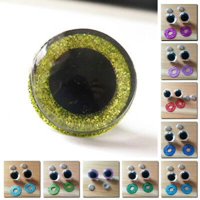 20pcs 16/18/20/24mm Plastic Safety Eyes For Doll Animal Puppet Toys Accessories