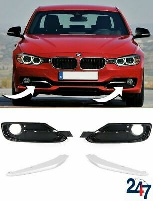 Bmw 3 Series F30 F31 2011-2015 Sport Line Front Bumper Fog Light Grill Full Set