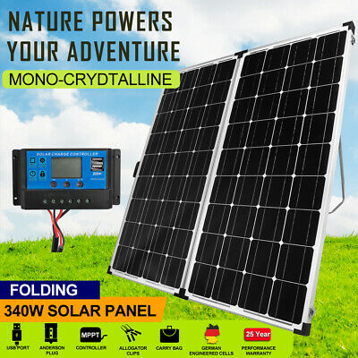 12V 325W Solar Panel Kit Mono Caravan Camping Battery Charging MC4 Plug Included