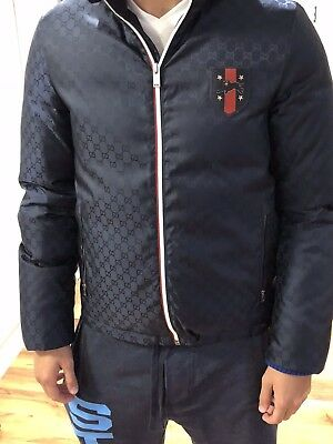 GUCCI MEN S BLUE Winter Jacket authentic -  1 8c372eff09ae