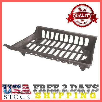"""Heavy Duty 24"""" Cast Iron Small Fireplace Grate Basket Style 1-Piece Grill Look"""
