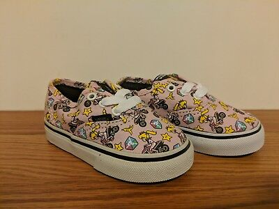 f481362aeb5 VANS NINTENDO AUTHENTIC Princess Peach (Kids size 2.0) UK 1.5 EURO ...