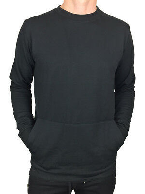 KING KOUTURE MENS SWEATSHIRT WITH POCKET AND MAN PRINT IN BLACK RRP £30 BNWT