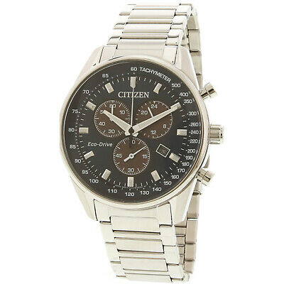 Citizen Men's AT2390-82L Silver Stainless-Steel Eco-Drive Fashion Watch