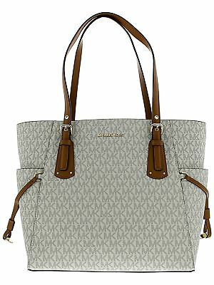 Michael Kors Women's Voyager Logo Bag Leather Top-Handle Tote
