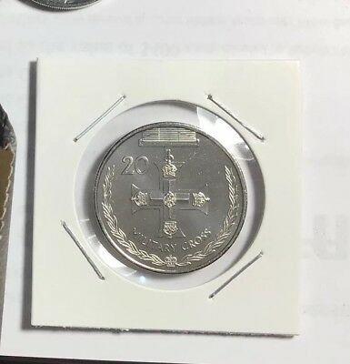 2017 20c Twenty Cent Military Cross, UNC X 1 From Cotton & Co Roll