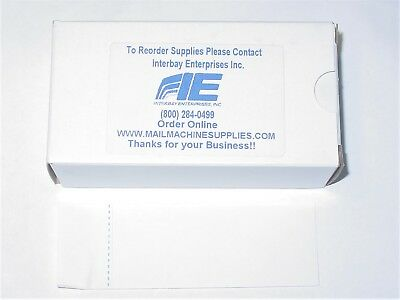 "Lot of 50 Boxes 300 Labels per Box Postage Meter Tape  Labels  4-3/4"" X 1-3/4 """