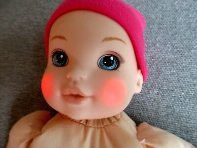 "Zapf-Baby Born Doll-13"" Sounds Coos-Laughs-Cries-Cheeks Light Up-No Clothes #F11"