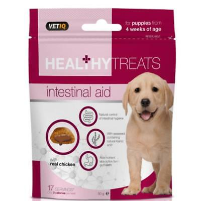 Mark and Chappell VETIQ Healthy Treats PUPPY INTESTINAL AID Gut Health Dog Snack