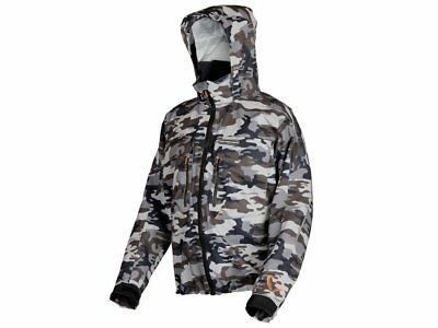 Savage Gear Camo Jacket M-XXL Transpirable 100% Impermeable Chaqueta