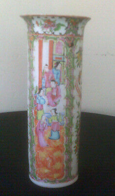 Antique Trumpet Chinese Porcelain Canton Famille Rose 19Th Century