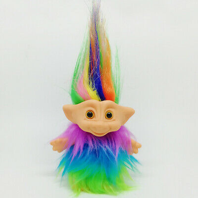 Chromatic Lucky Troll Doll Dams Mini Action Figures Toy Cake Toppers Plush