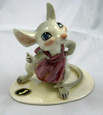 Hagen Renaker Specialties Made in America Country Mouse Mama style two retired