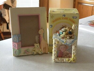 NIB Baby Musical Photo Cube and Picture Frame Lot of 2