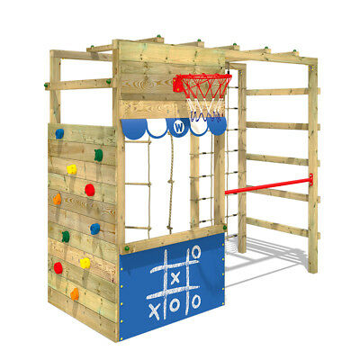 Klettergerüst Spielturm WICKEY Smart Action Kinder Turngerüst Holz Kletterturm