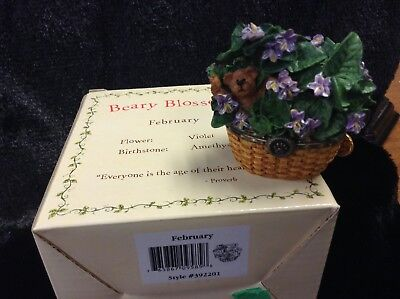 Boyds Bears Beary Blossoms February Treasure Box