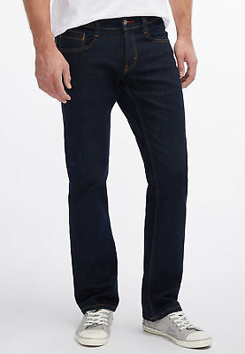Mustang Oregon Straight Herren Jeans, W29 -to- W38 / rinsed washed