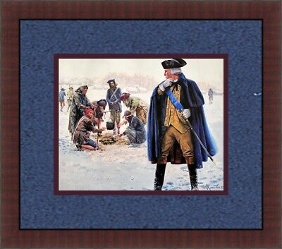 Mort Kunstler Civil War Washington at Valley Forge CUSTOM FRAMED FREE SHIP