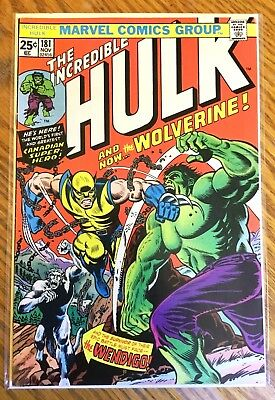 Incredible Hulk 181 (1974) Very Fine (7.5) no MVS 1st First Wolverine Appearance