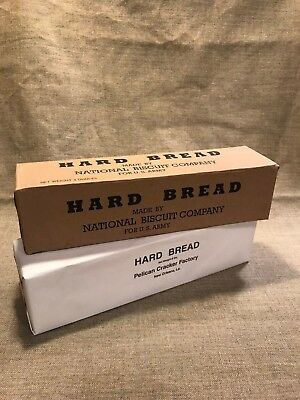 WWI US Army 1917 contract Hard Bread Hard Tack ration box set