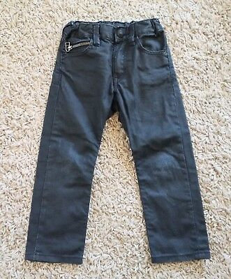 H&M Boys Slim Fit Black Denim Jeans size 2-3Y VGUC