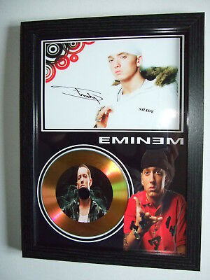 Eminem    Signed Framed Gold Cd  Disc 0