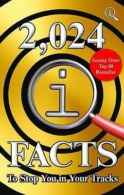 2,024 Qi Facts to Stop You in Your Tracks by John Lloyd Hardcover Book Free Ship