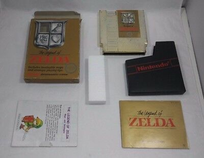 Legend of Zelda (Nintendo Entertainment System) COMPLETE!! NES Gold Cart w/ Map!