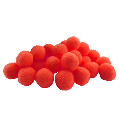 100 Pieces Fluffy Small Craft Pompoms Crafts Decorations Red DIY Balls