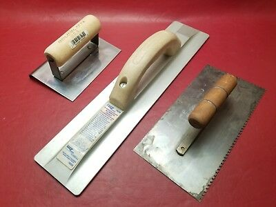LOT MASONRY TOOLS Notched Hand Trowels Spreaders Concrete