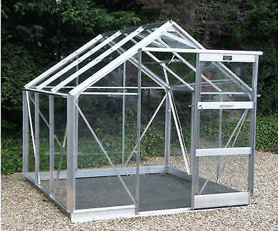 "Elite Craftsman Greenhouse  6'3"" wide Alloy Finish with Toughened Safety Glass"