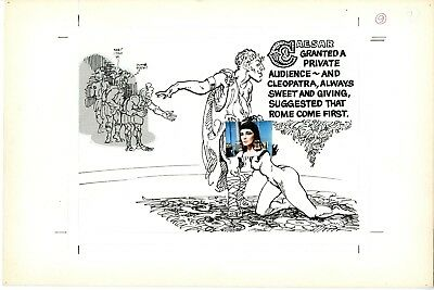 The Life And Loves Of Cleopatra (1967) Harry Driggs Oral Sex Splash Original Art