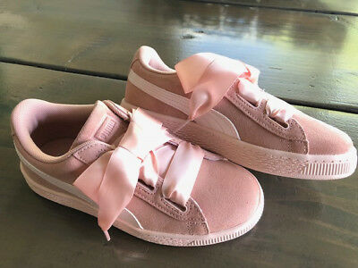 reputable site 588c2 a09be PUMA SUEDE HEART Jewel Junior Pink - Girls - Size 2.5