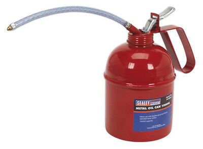 Metal Oil Can Flexible Spout 1000Ml From Sealey Tools