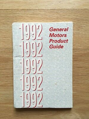 1992 General Motors Product Guide Catalog Chevy Geo Pontiac Buick Cadillac Olds