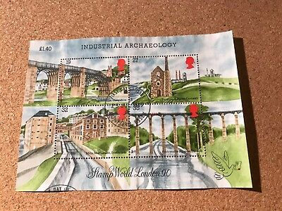 Stamps- Ms1444 1989 Industrial Archaeology Mini Sheet Fine Used