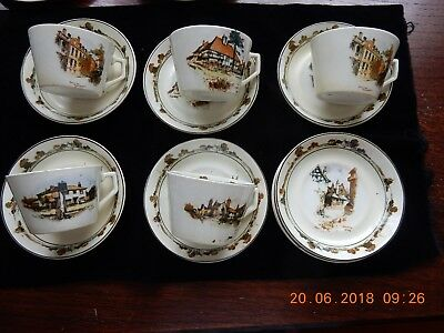 23 Piece Vintage Old England Coaching Days Tea Set By Ridgways