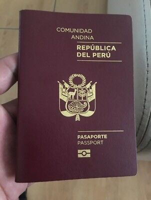 Valid Peru Biometric Passport 2016-2021 LIKE BRAND NEW