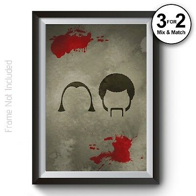 Pulp Fiction Poster, Classic Movie Wall Art Prints,Tarantino, Giclee Quality