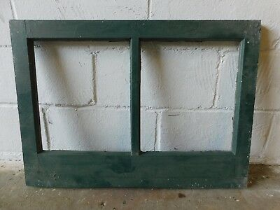 1910's Craftsman / Mission Style WINDOW FRAME Fir Two Pane ORIGINAL