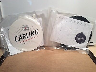 Carling Lager Large Christmas Baubles x2 New And Unused