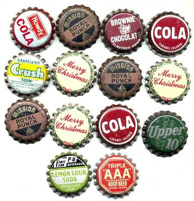 14 Mostly Different Unusual Cork Soda Bottle Caps
