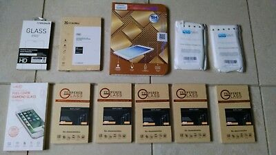 Lot of 11 Tempered Glass Protectors for Cell Phones_Tablet_NIB